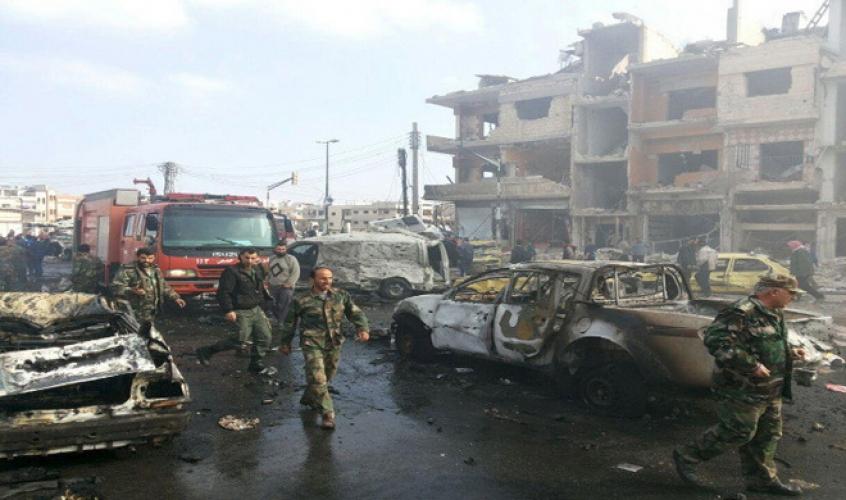 استشهاد رئيس فرع الأمن العسكري في التفجيرين الإرهابيين في حمص