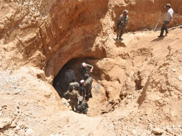 الجيش السوري يعثر على نفق بطول 600 متر على عمق 17 متراً في جوبر