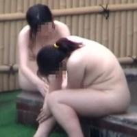 ブサカワポチャ素人が垂れ爆乳を弾ませ風呂に飛び込む!「女露天風呂劇場 Vol.22」
