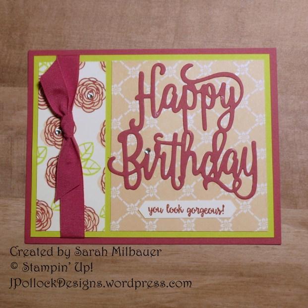 J. Pollock Designs - Stampin' Up! - Sarah Milbauer