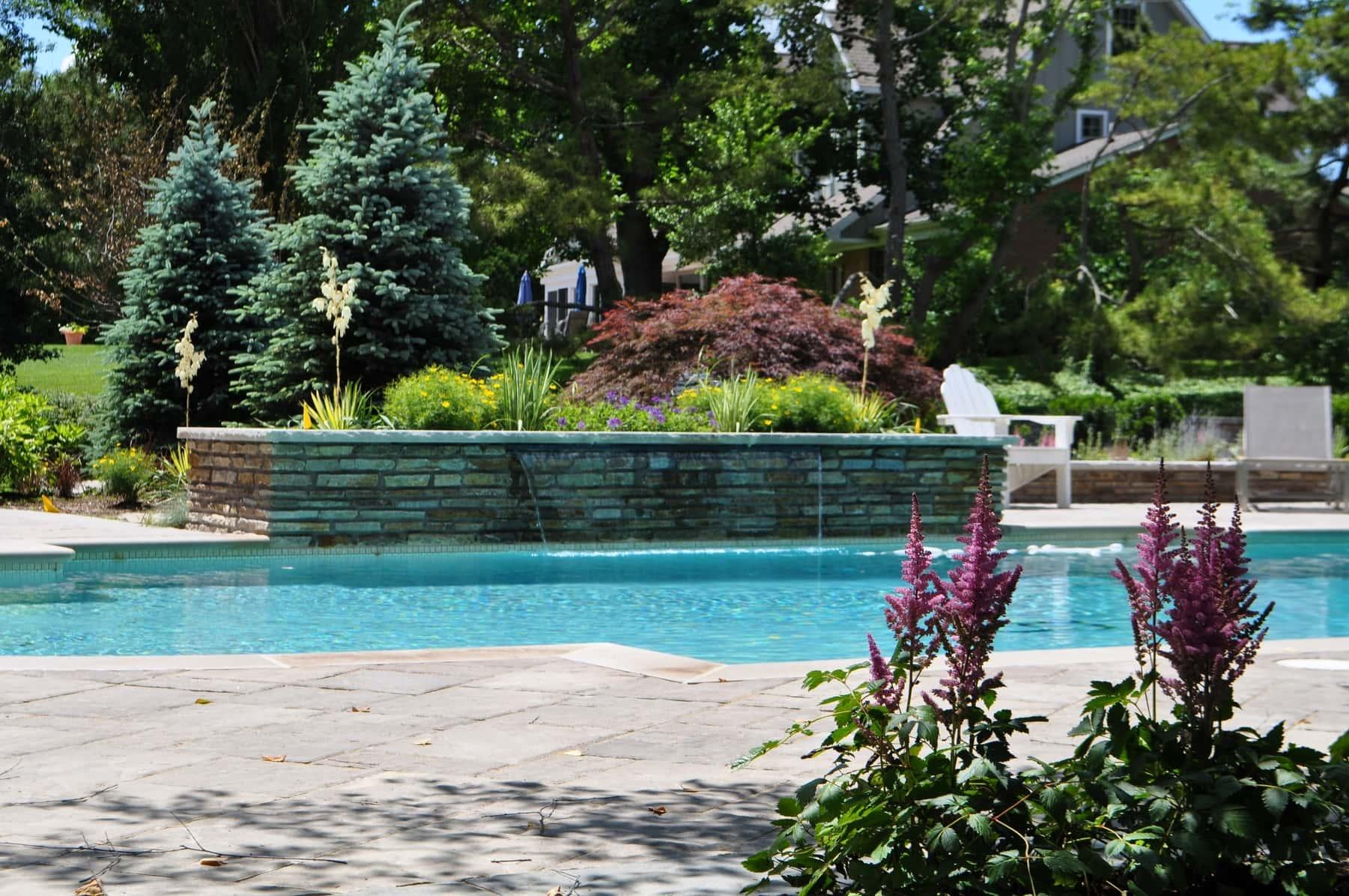 Grecian Style Custom Pool, Fire Pit Terrace, Outdoor
