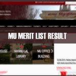 MU Merit List and Result