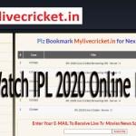 Mylivecricket.in Portal Cric7.net IPL 2020 My Live Cricket Biz APP