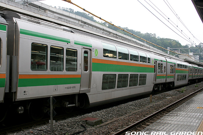 Train to Shonan, Odawara and Atami with no surcharge from Tokyo. Rapid train on Ueno-Tokyo line