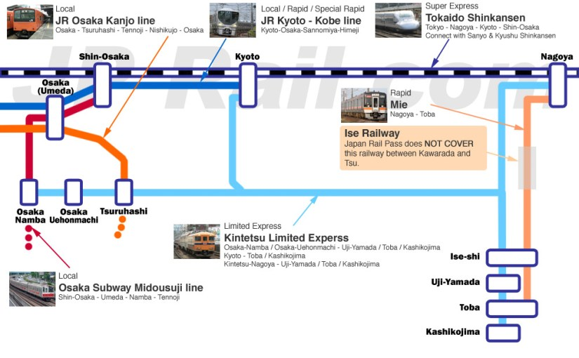 cc7542898fa6 Ise access guide. Kintetsu is the best way but we can use JR Pass too.