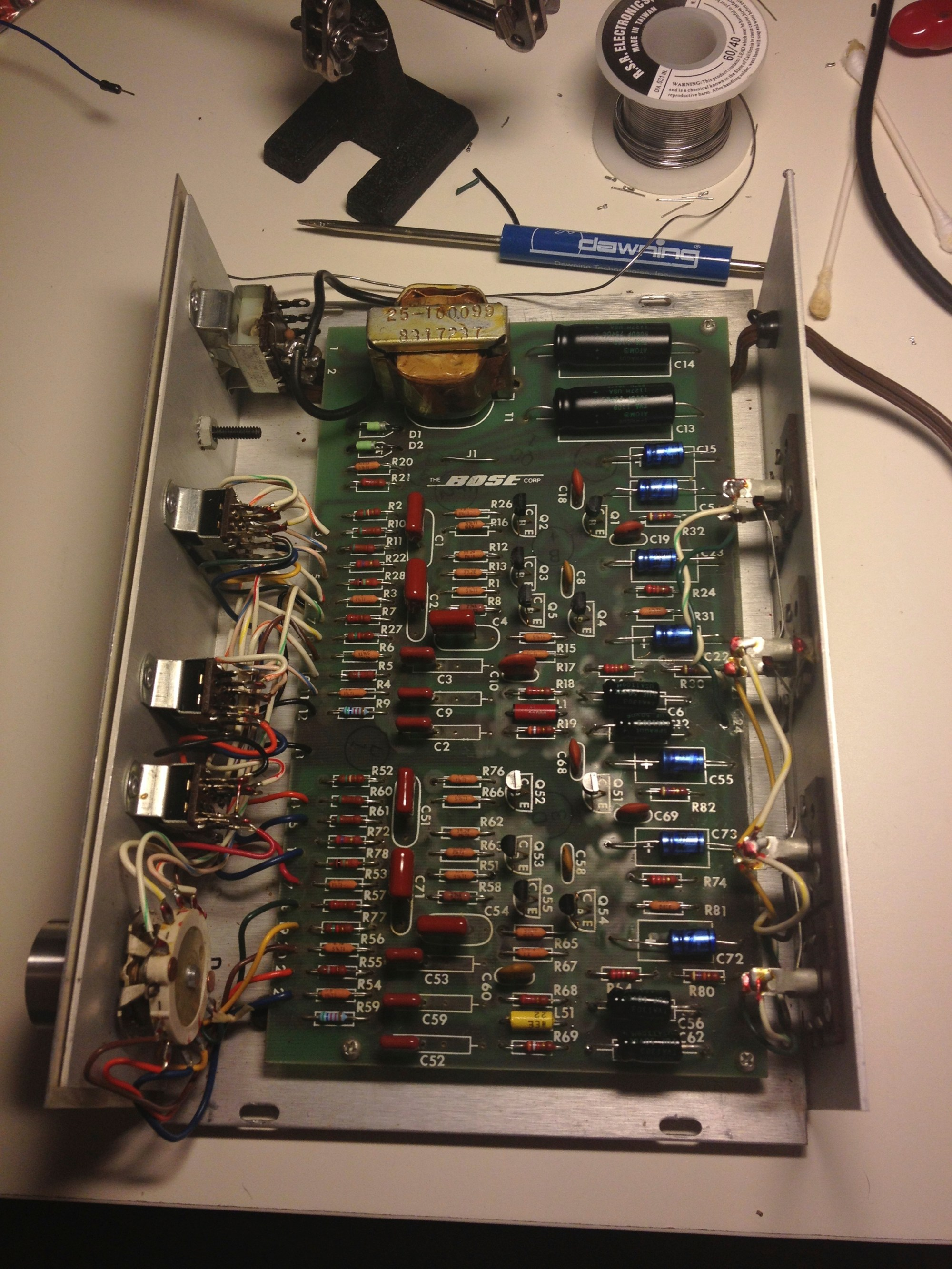 hight resolution of bose 901 equalizer repair jpreardon com bose t20 wiring diagram bose 901 eq board after