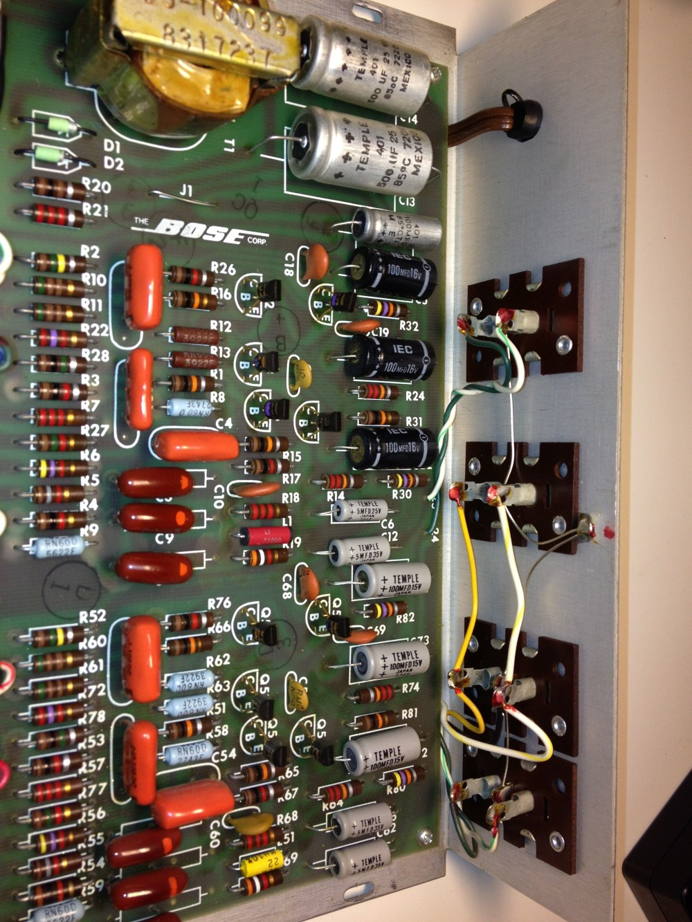 medium resolution of bose 901 eq board before