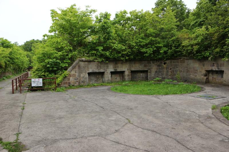 函館山の砲台跡(旧函館要塞)