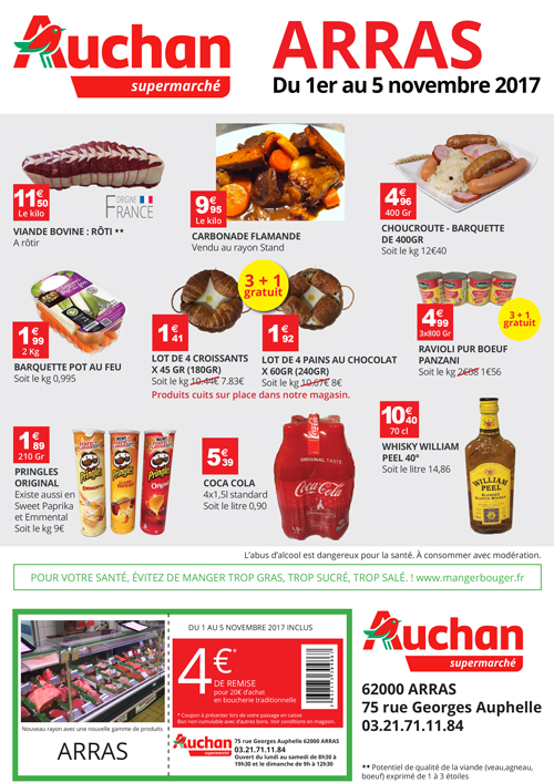 flyer auchan arras verso