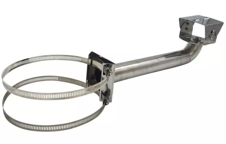 Stainless steel pole mount cctv bracket/stand with loop