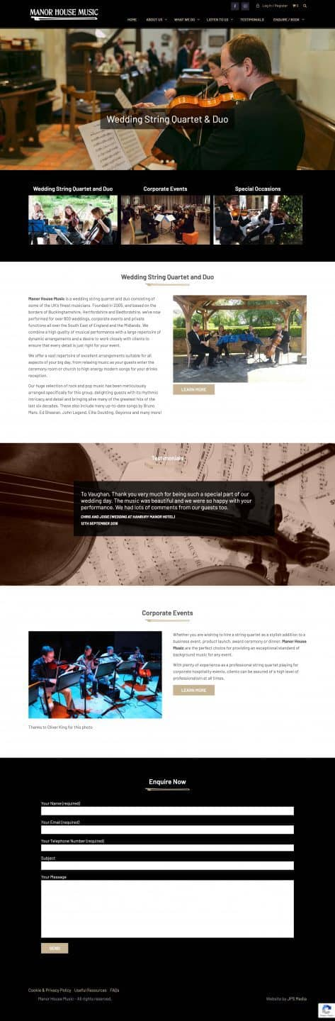 Manor House Music Whole Website