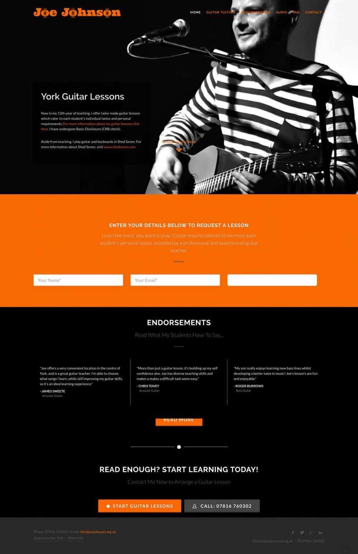 Joe Johnson Website Screen Capture