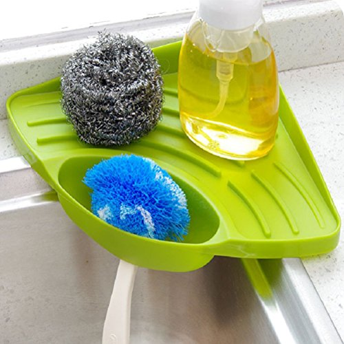 Buytra Sponge Holder, Kitchen Sink Caddy Suction Cup Holder for ...