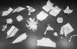 Our 3 minute 'transform a piece of paper using only your hands' outcomes