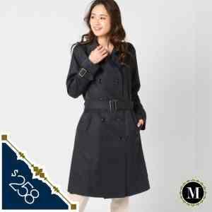 日本Mew's 中碼 寶藍色 防花粉 防潑水兩排扭 乾濕褸 trench coat 中褸