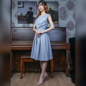 日本FnS 4色入 雪妨 修腰 綁帶 淺藍 海藍 粉紅 寶藍色 連身裙 中長裙 禮服 飲裙 sleeveless dress
