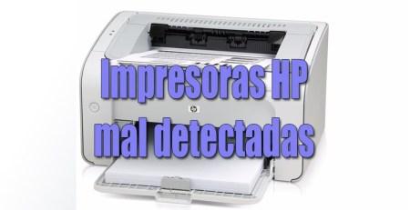 impresoras hp mal detectadas