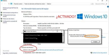 Windows 10 activado tine fecha de vencimiento