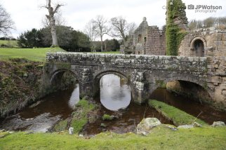 A Bridge In The Grounds Of Fountains Abbey North Yorkshire