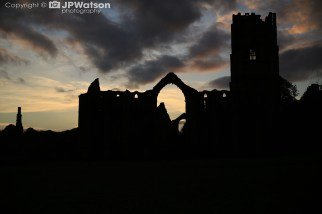 Fountains Abbey At Sunset