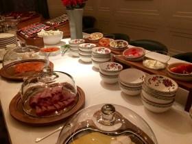 The tasty breakfast buffet