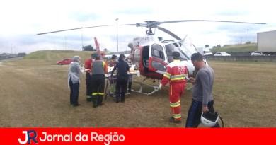 Casal fica ferido em acidente na Anhanguera