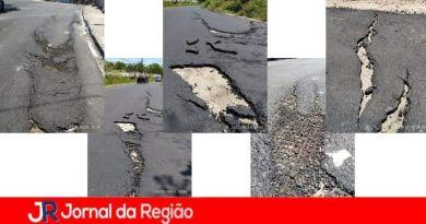 Pavimentação recém-instalada já apresenta falhas