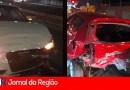 Engavetamento com 6 carros deixa 2 feridos na Ozanan