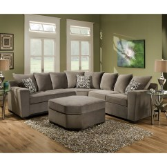 Elliot Fabric Sectional Living Room Furniture Collection Striped Chairs Explore Photos Of 96x96 Sofas Showing 3 15 Regarding Most Recently Released Microfiber 2 Piece Sofa