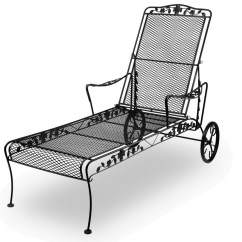 Iron Chaise Lounge Chairs Storage Box Chair The Best Wrought Intended For Newest