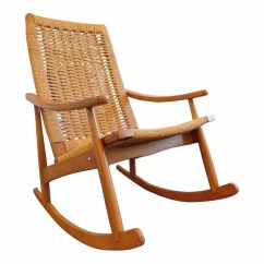 Old Fashioned Rocking Chairs Stacking Sling Chair Grey View Gallery Of Showing 6 15 Photos Used Mission Chairish Yugoslavian Hans Wegner Style Intended For Recent