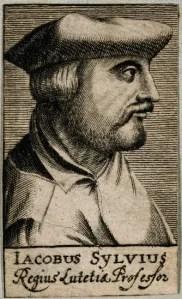 V0005702 Jacobus Sylvius. Line engraving, 1688.