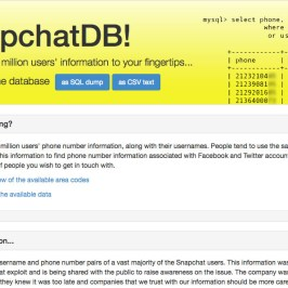 Snapchat hack exposes names and phone numbers of over 4 million users
