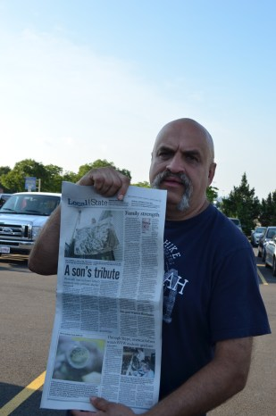 This man showed me how he had been in the paper before.