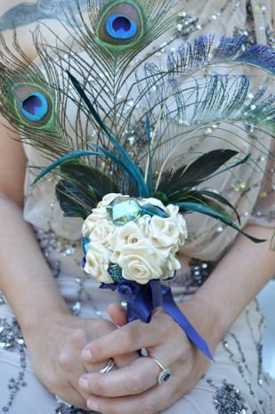 Peacock Feather Boquet