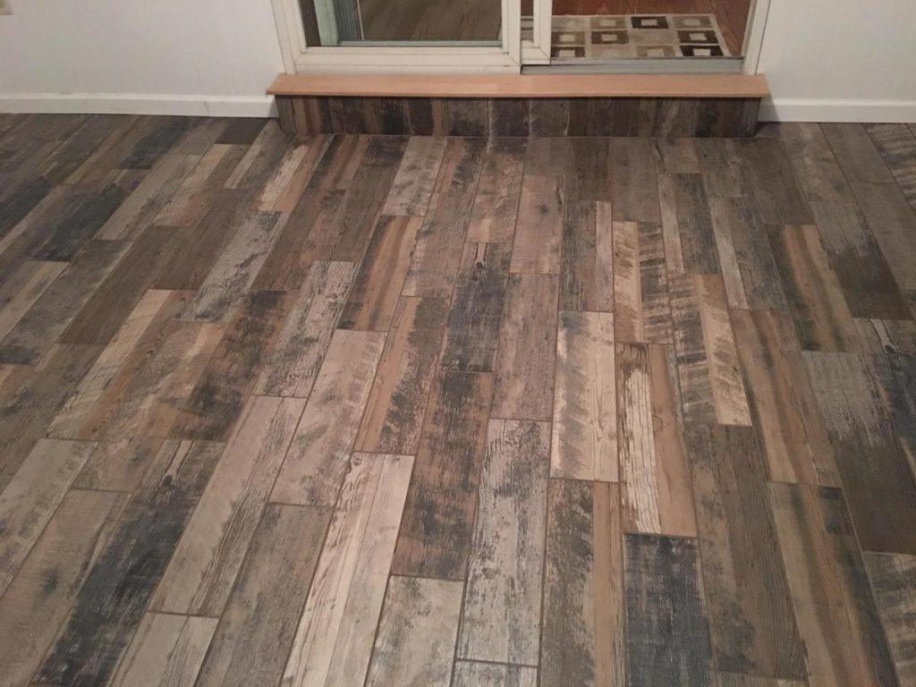 faux wood tile for the perfect sunroom