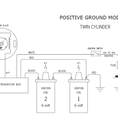 12 volt ignition single cylinder models positive or negative ground with points in the side casing general data [ 1238 x 816 Pixel ]