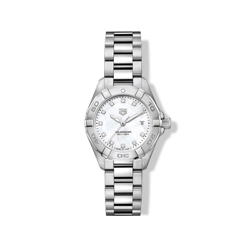 Tag Heuer Aquaracer 27m Steel & Mother of Pearl Watch with