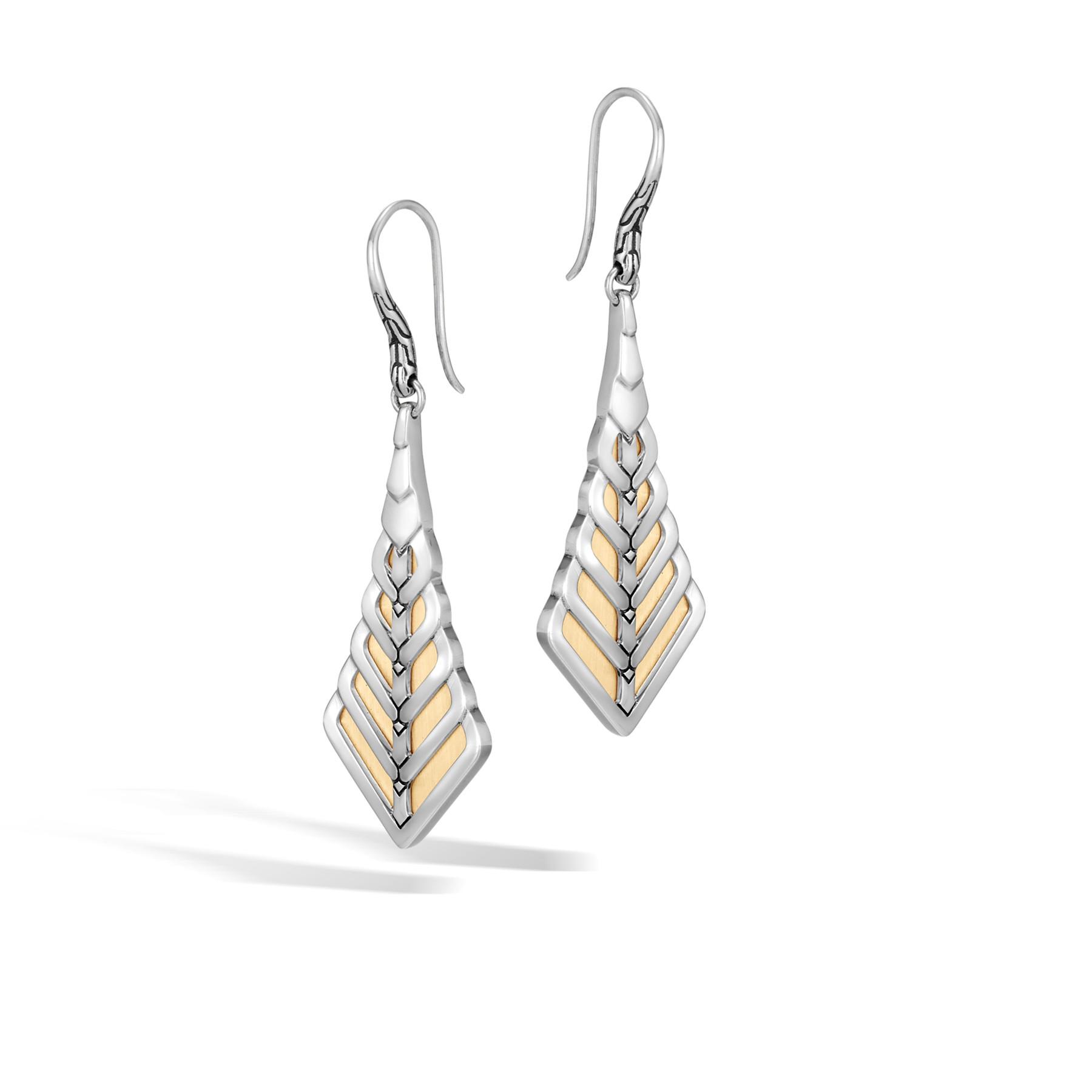 John Hardy Modern Chain French Wire Drop Earrings in