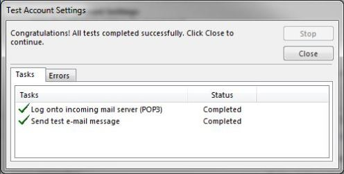 Status check window