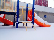 Children's playground by the library