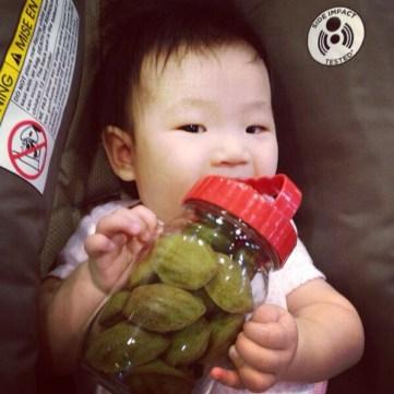 Baby E loves the green tea madeleines