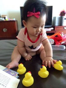Playing with rubber duckies