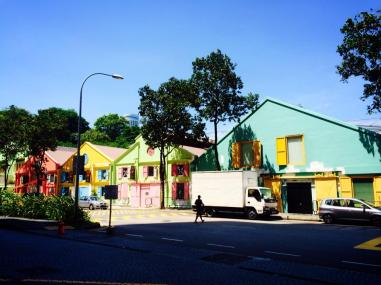 Colourful walls outside LC