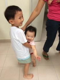 Isaac carrying Elizabeth