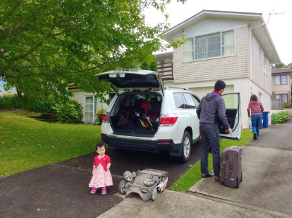 Dropping Mum and Dad off at Josh's place