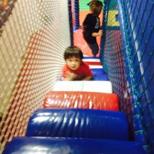 Matthew in the play area