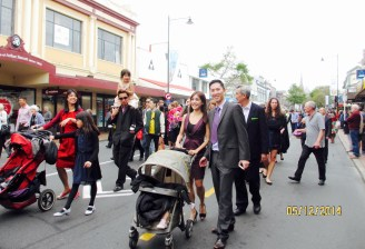 Us at the procession