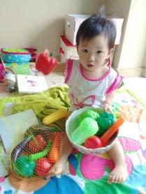 Knowing her vegetables
