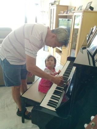 Grandpa with Little E